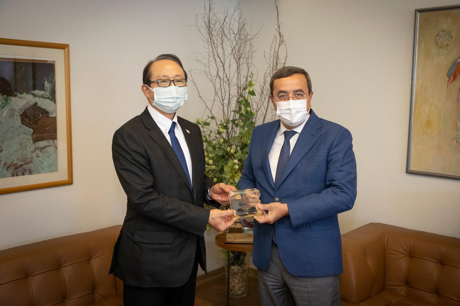Başkan Batur, Japonya İstanbul Başkonsolosu Hisao Nishimaki'yi konuk etti (5)