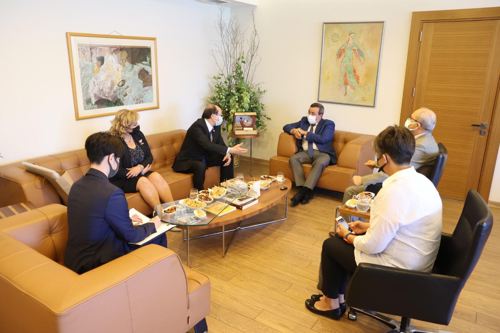 Başkan Batur, Japonya İstanbul Başkonsolosu Hisao Nishimaki'yi konuk etti (6)