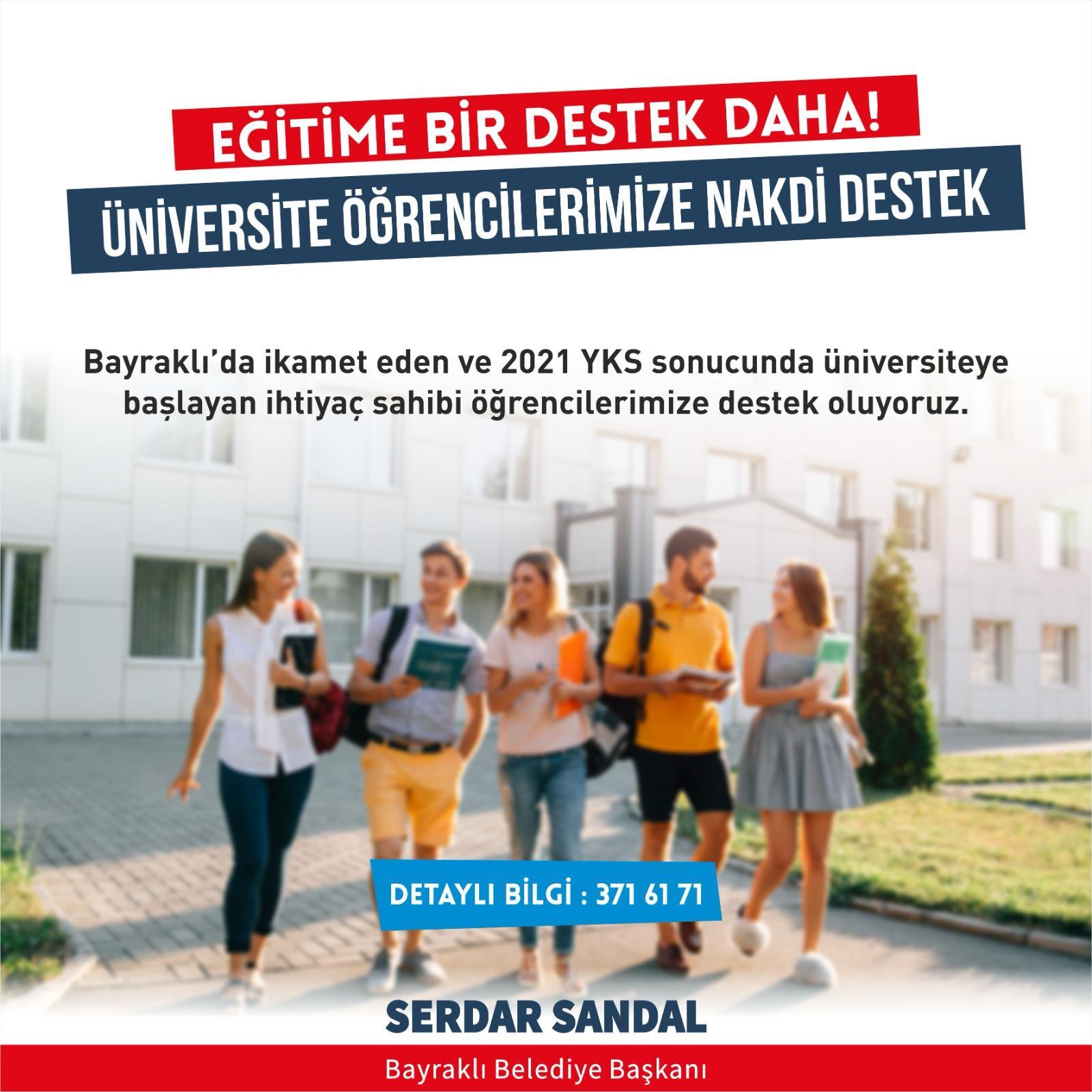 Başkan Sandal ''Öğrencilerimiz yalnız değil''