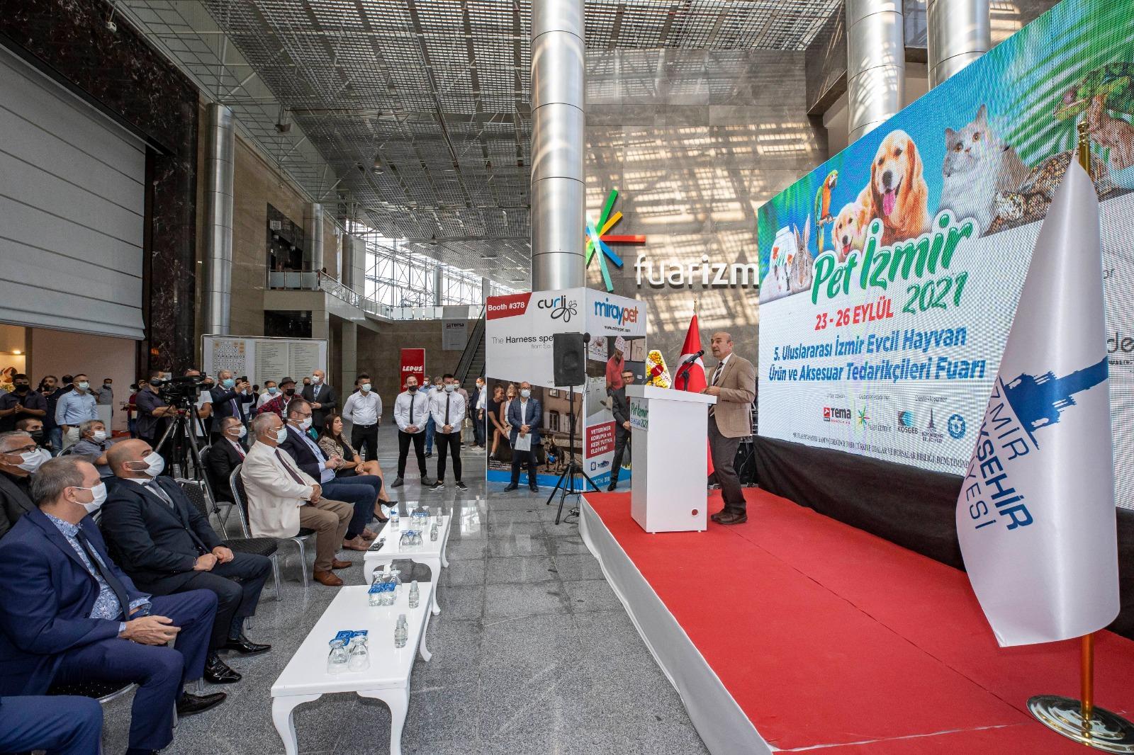 Başkan Soyer, Pet İzmir 2021'in açılışında konuştu-yenigun