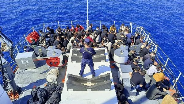 izmir acıklarında 105 göçmen kurtarıldı
