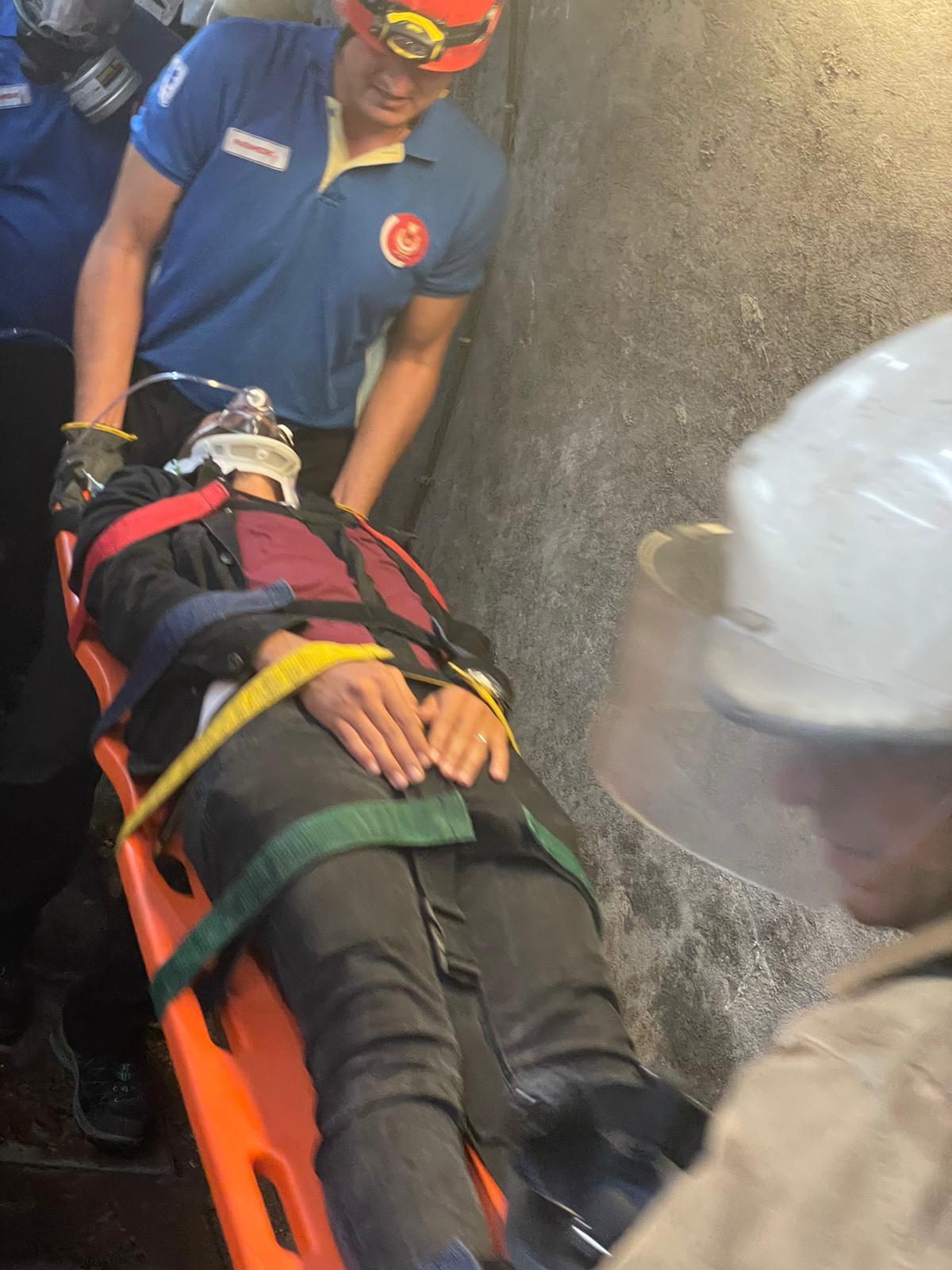 İzmir'de metro durakları arası yangın tatbikatı kazazede