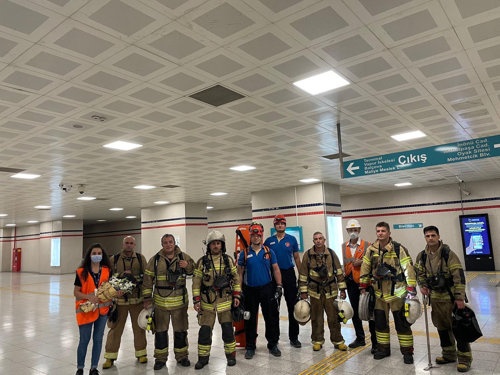 İzmir'de metro durakları arası yangın tatbikatı-yenigün gazetesi